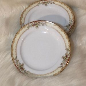 MEITO JAPAN PORCELAIN CHINA BREAD & BUTTER PLATES